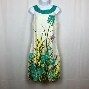 Merona Linen blend floral sleeveless dress 10